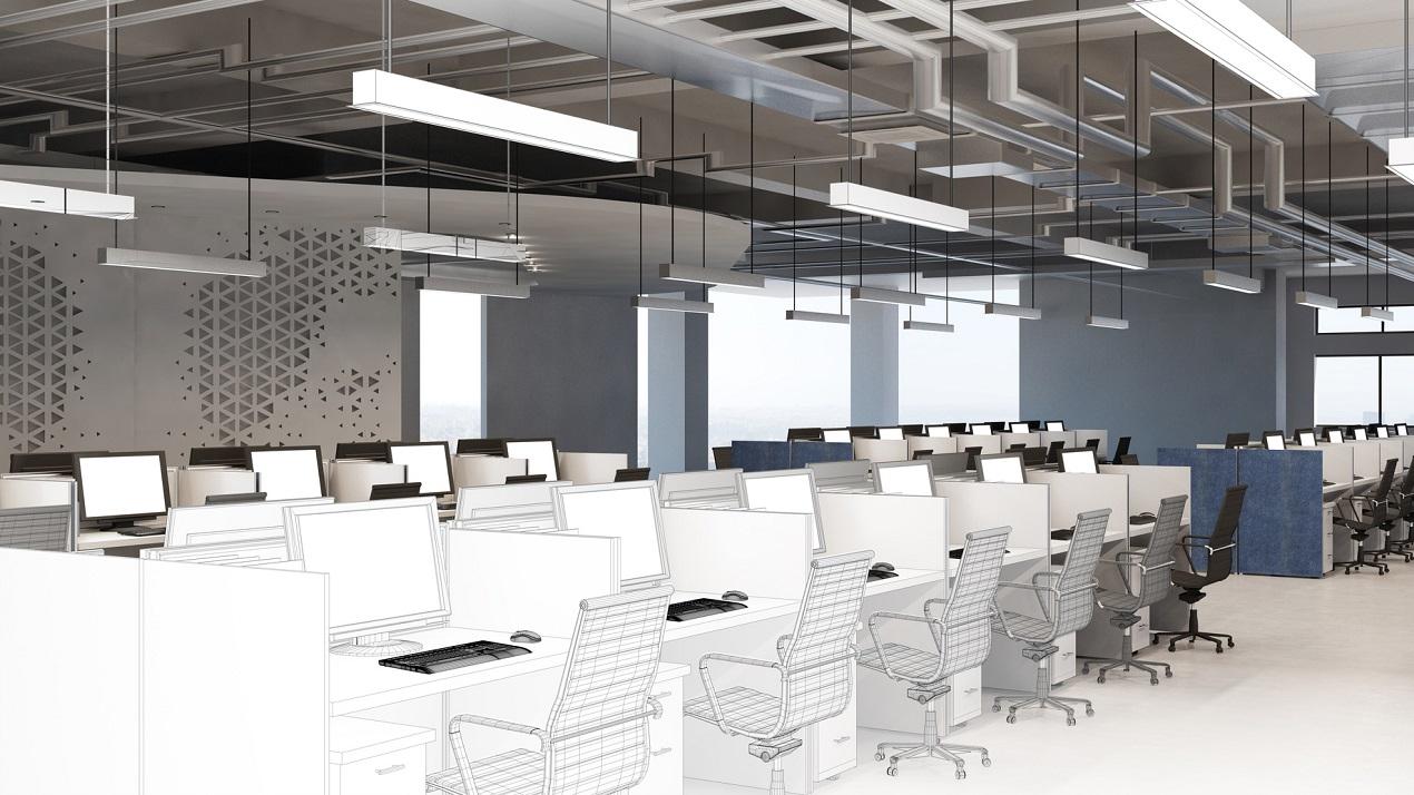 Professionelle 3D-Büro-Planung